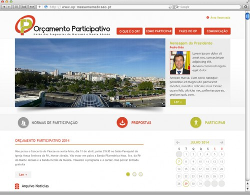 portfolio 6/7  - website Orçamento Participativo: www.op-massamamabraao.pt