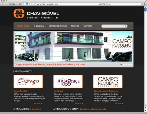 portfolio 5/7  - Website Chavimóvel - Sociedade Imobiliária: www.chavimovel.com