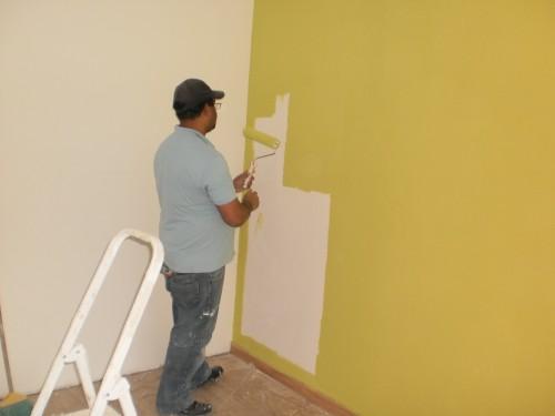 portfolio 3/17  - paredes a serem pintadas as cores que o cliente pediu