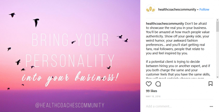 portfolio 2/13  - Posts para Instagram (nicho - Marketing para Health Coaches)