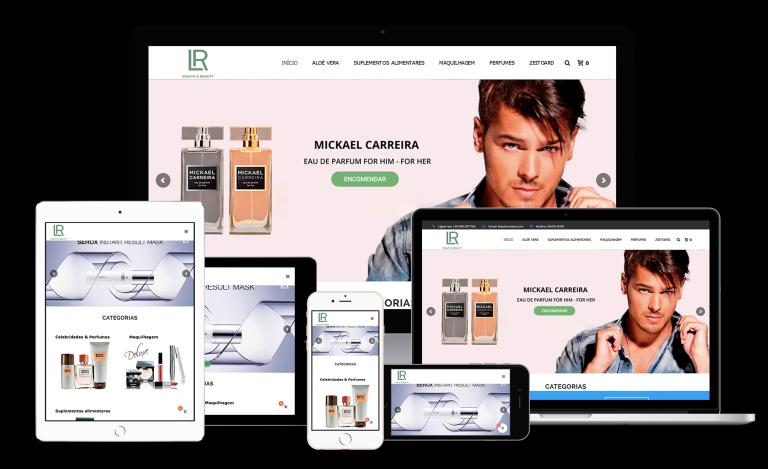 portfolio 7/8  - LR Parceiros foi uma página criada pela Laranja Digital, onde pode encontrar variados produtos com as mais variadas promoções.