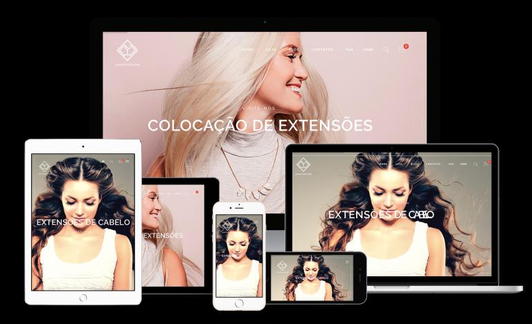 portfolio 8/8  - CYL é uma empresa de extensões de cabelo, situada em Cascais e contou com a Laranja Digital para fazer a sua loja online.