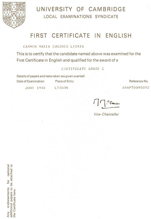 portfolio 2/2  - First Certificate in English