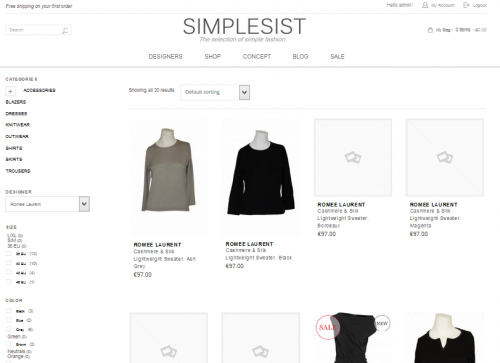 portfolio 1/10  - Simplesist Shop