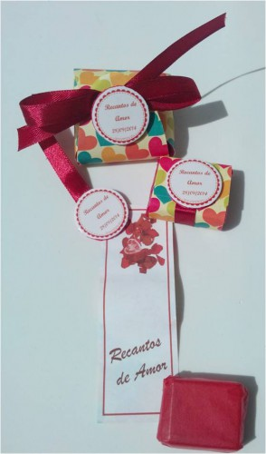 portfolio 13/15  - Conjunto bolsa artesanal em EVA com sabonete