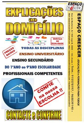 portfolio 9/14  - Explicações ao Domicílio