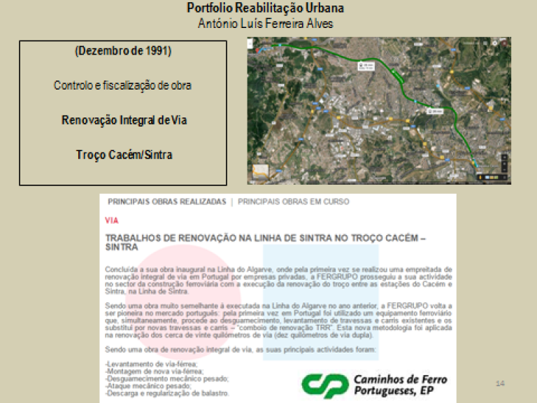 portfolio 14/14  - Portfolio - Reabilitação Urbana - António Luís Ferreira Alves