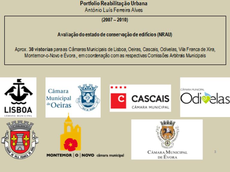 portfolio 3/14  - Portfolio - Reabilitação Urbana - António Luís Ferreira Alves