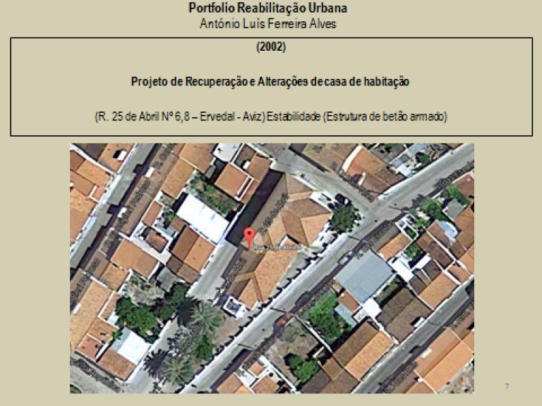 portfolio 7/14  - Portfolio - Reabilitação Urbana - António Luís Ferreira Alves