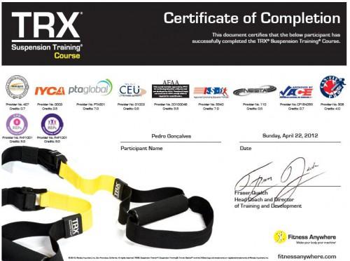 portfolio 1/1  - Certificação Internacional de TRX