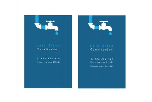 portfolio 35/51  - Cartão de Visita de Luís Silva
