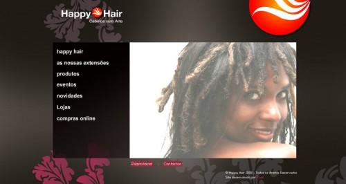 portfolio 31/51  - Layout de site - Happy Hair