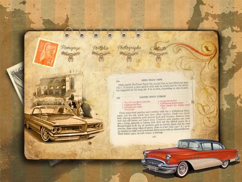 portfolio 29/51  - Layout de site Classic cars - experimental