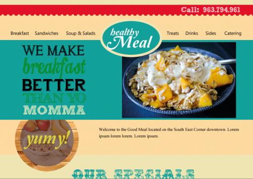 portfolio 28/51  - Layout de site Helathy Meal - experimental