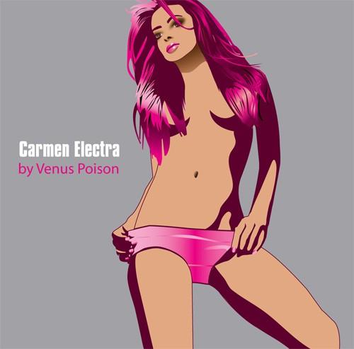 portfolio 22/51  - Ilustração Carmen Electra