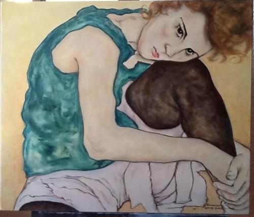 portfolio 3/14  - Pintura a Óleo s/Tela: reprodução da Obra de Schiele
