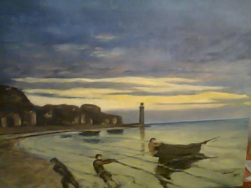 portfolio 12/14  - Pintura a Óleo s/Tela: Reprodução da Obra de Monet