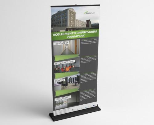 portfolio 7/10  - Design Gráfico - Rollup Vougapark