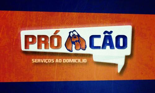 portfolio 7/10  - Logotipo e Cartao de Visita - Pró Cão - Photoshop