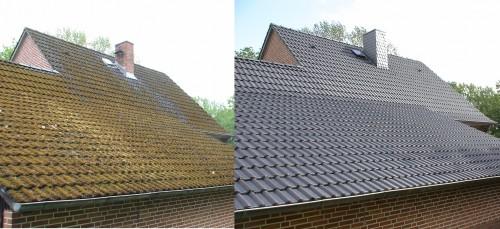 portfolio 2/5  - O antes e o depois de um telhado tratado com Isonit.