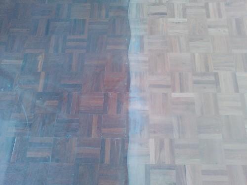 portfolio 38/41  - pavimento - mogno    antes de afagar /depois de afagar