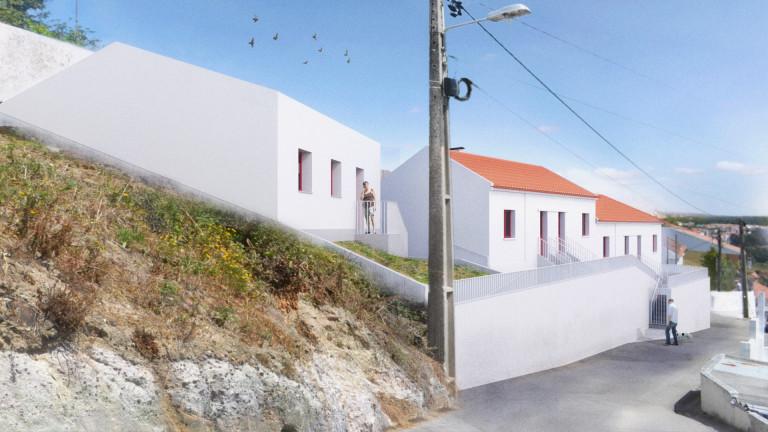 portfolio 2/3  - Reabilitação de 4 habitações e espaço comum na Encosta de São Vicente, Torres Vedras