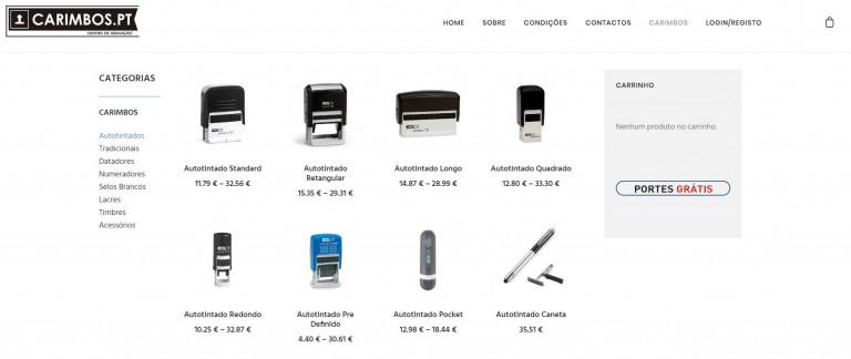 portfolio 2/9  - Loja Online - carimbos.pt