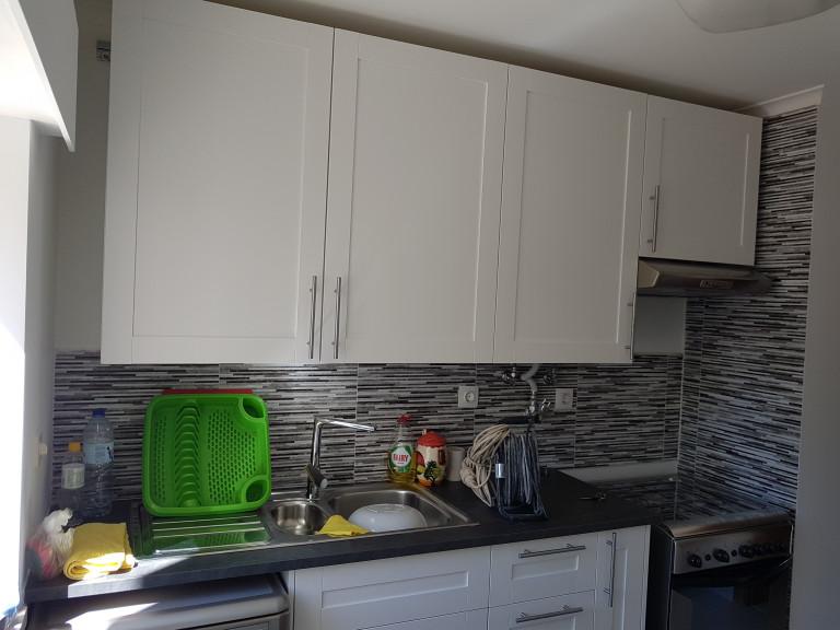 portfolio 1/7  - Remodelação de uma cozinha durante e no final
