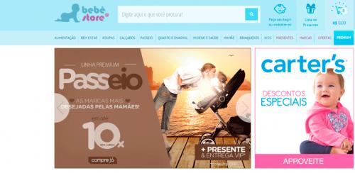 portfolio 54/62  - www.bebestore.com.br   Desenvolvimento de Loja Online e Design Gráfico