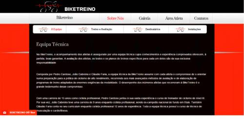 portfolio 51/62  - www.biketreino.pt   Desenvolvimento de Design Gráfico e WebSite