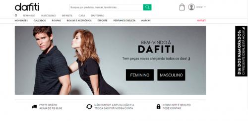 portfolio 43/62  - www.dafiti.com.br   Desenvolvimento de Loja Online e Design Gráfico
