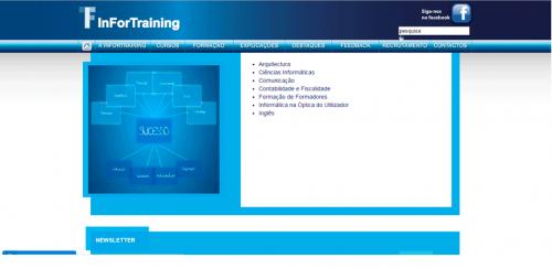 portfolio 35/62  - www.infortraining.pt   Desenvolvimento de Design Gráfico e WebSite
