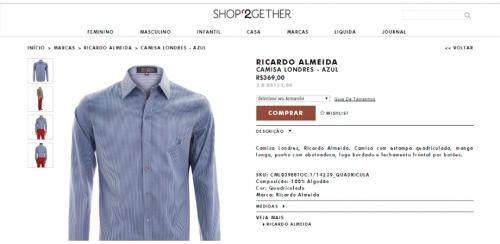 portfolio 13/62  - www.shop2gethe.com.br   Desenvolvimento de Loja Online e Design Gráfico