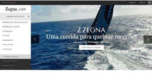 portfolio 1/62  - www.zegna.com.br   Desenvolvimento de Loja Online e Design Gráfico