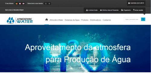 portfolio 56/62  - www.atmosfericwater.pt   Desenvolvimento de Design Gráfico e WebSite
