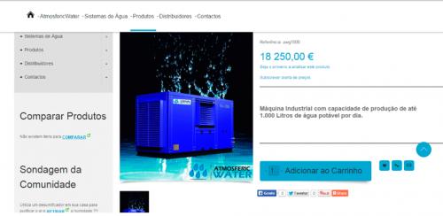 portfolio 55/62  - www.atmosfericwater.pt   Desenvolvimento de Design Gráfico e WebSite