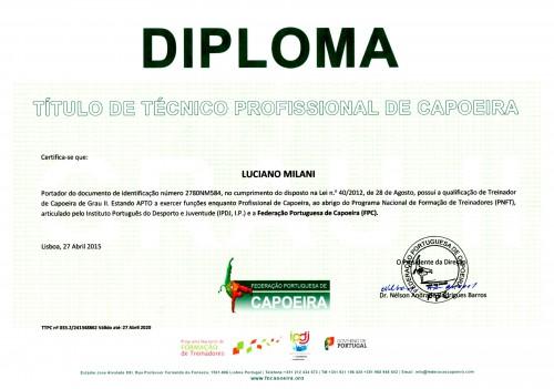 portfolio 3/5  - Diploma da FPC