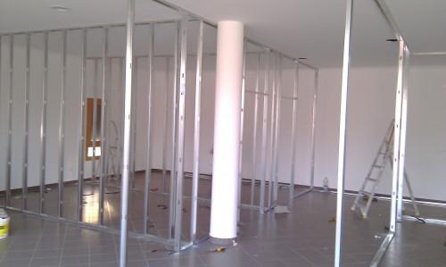 portfolio 66/68  - Construção de Clinica - Estrutura de divisórias