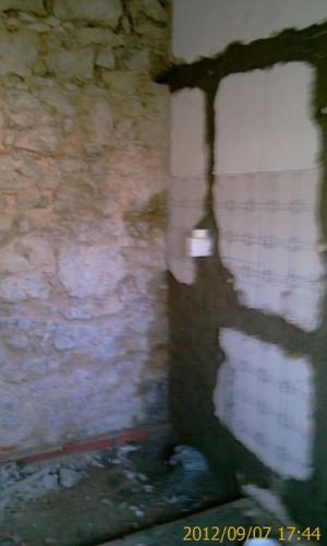 portfolio 41/68  - Remodelação de casa de banho - Parede de pedra