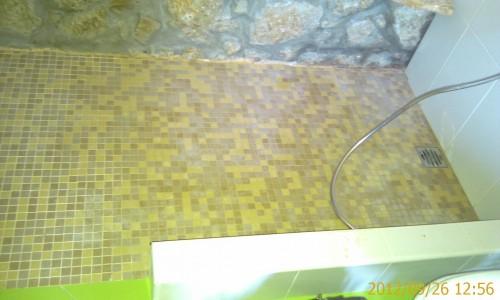 portfolio 36/68  - Remodelação de casa de banho -  Duche construido no local