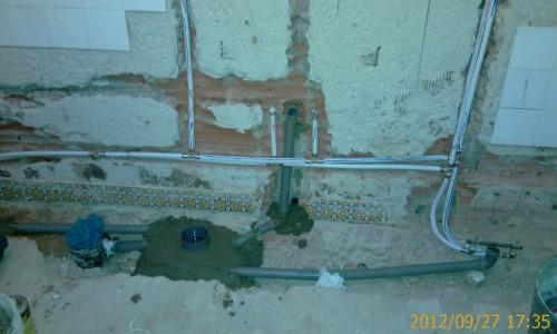 portfolio 32/68  - Remodelação de casa de banho - Canalização