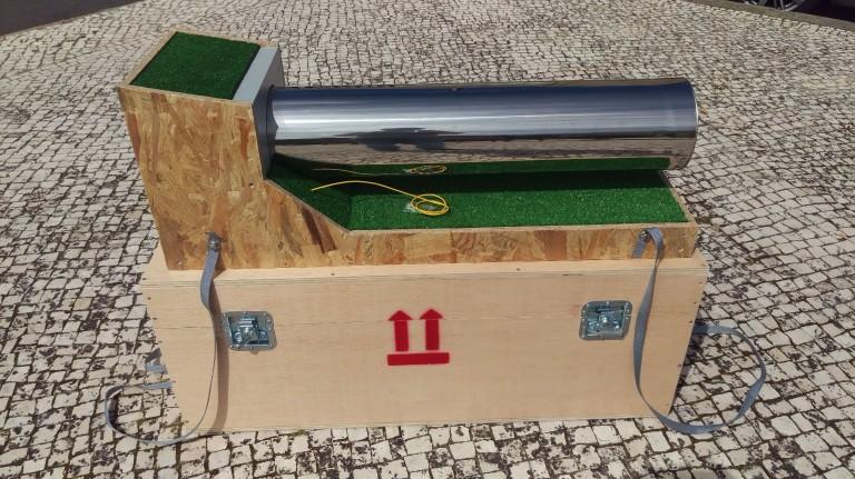 portfolio 2/2  - Pipeline Demo - Maquete - Suporte Modelo Demonstração em Feiras