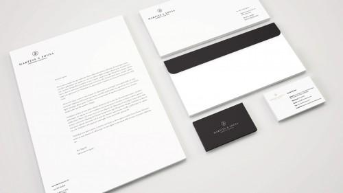 portfolio 4/17  - Projetamos o logotipo da sua empresa e respetivo estacionário, criando uma identidade visual simples, atrativa e eficiente.