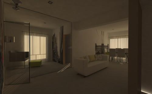 portfolio 28/31  - Imagem 3D de um apartamento em Telheiras