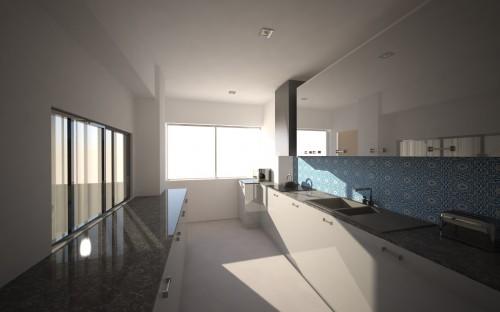 portfolio 30/31  - Imagem 3D de um apartamento em Telheiras