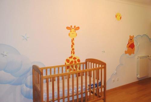 portfolio 31/31  - Pintura artistica em quarto de bebé