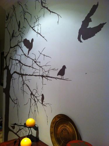 portfolio 24/31  - Pintura artistica em corredor de entrada