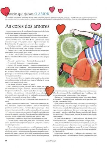 portfolio 3/4  - História 'As cores dos amores', publicada na Pais & Filhos