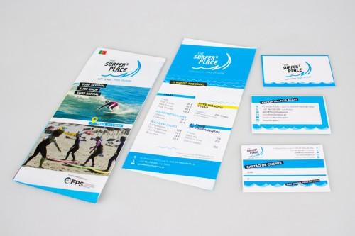 portfolio 13/27  - Flyer, Preçario, Cartão de visita e cliente / Escola de Surf