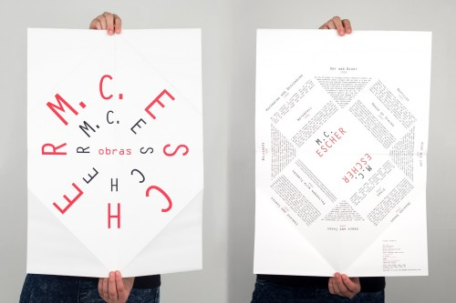 portfolio 2/27  - Cartaz A2 desdobrável / Obras de Escher